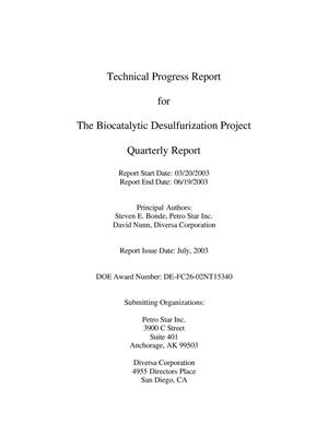 Primary view of object titled 'THE BIOCATALYTIC DESULFURIZATION PROJECT'.