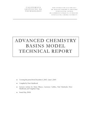 Primary view of object titled 'ADVANCED CHEMISTRY BASINS MODEL'.