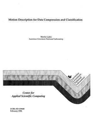 Primary view of object titled 'Motion description for data compression and classification'.