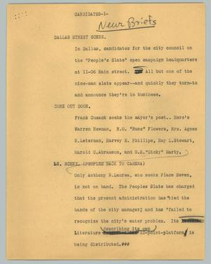Primary view of object titled '[News Script: Candidates]'.