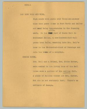 Primary view of object titled '[News Script: Wind]'.