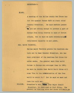 Primary view of [News Script: Gruenther]