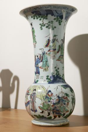 Primary view of Large Vase with Notables in a Landscape