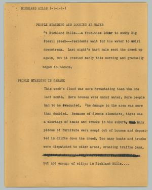 Primary view of object titled '[News Script: Richland Hills]'.