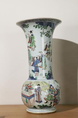 Large Vase with Notables in a Landscape