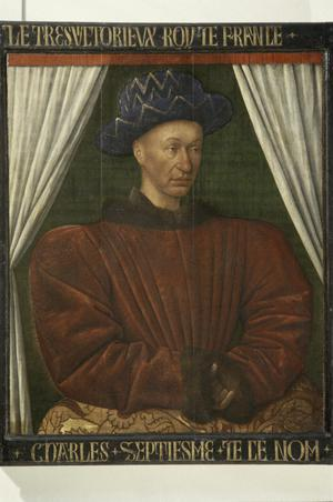 Primary view of object titled 'Portrait of King Charles VII of France'.