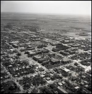Primary view of object titled '[Aerial view of campus]'.