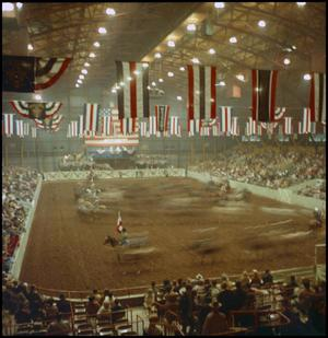 Primary view of object titled '[Rodeo arena floor in Odessa, Texas]'.