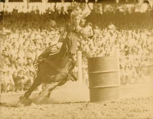 Primary view of object titled '[LaTonne Sewalt Barrel Racing]'.