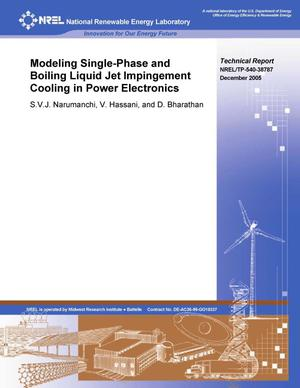 Primary view of object titled 'Modeling Single-Phase and Boiling Liquid Jet Impingement Cooling in Power Electronics'.