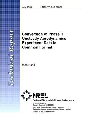Primary view of object titled 'Conversion of Phase II Unsteady Aerodynamics Experiment Data to Common Format'.