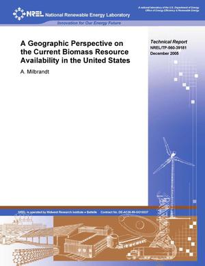 Primary view of object titled 'Geographic Perspective on the Current Biomass Resource Availability in the United States'.