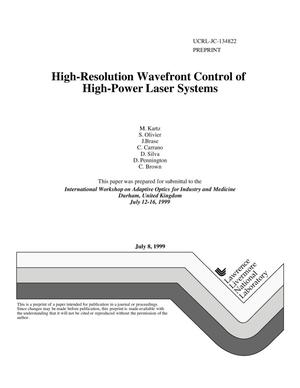 Primary view of object titled 'High-resolution wavefront control of high-power laser systems'.