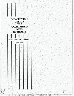 Primary view of object titled 'Conceptual design of a coal-fired MHD retrofit. Final technical report'.