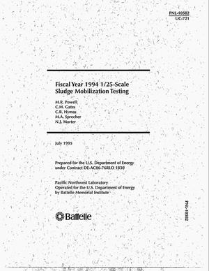 Primary view of object titled 'Fiscal year 1994 1/25-scale sludge mobilization testing'.