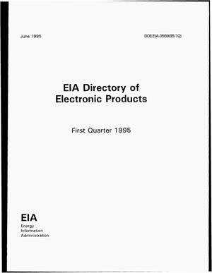 Primary view of object titled 'EIA directory of electronic products, first quarter 1995'.