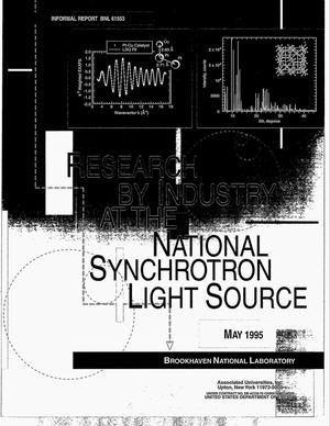 Primary view of object titled 'Research by industry at the National Synchrotron Light Source'.