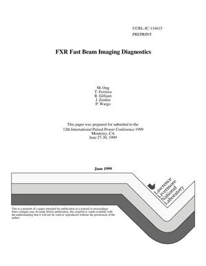 Primary view of object titled 'FXR fast beam imaging diagnostics'.