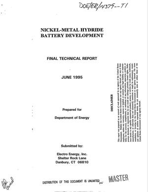 Primary view of object titled 'Nickel-metal hydride battery development. Final technical report'.