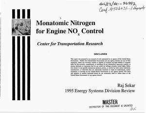 Primary view of object titled 'Monatomic nitrogen for engine NO{sub x} control'.