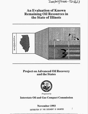 Primary view of object titled 'An evaluation of known remaining oil resources in the state of Illinois: Project on advanced oil recovery and the states. Volume 3'.