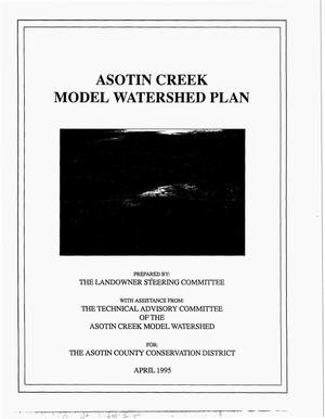 Primary view of object titled 'Asotin Creek Model Watershed Plan'.
