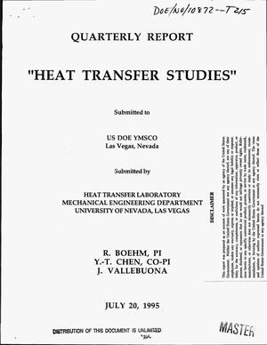 Primary view of object titled 'Heat transfer studies. Quarterly report'.