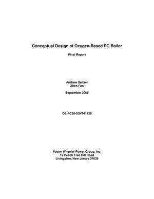 Primary view of object titled 'Conceptual Design of Oxygen-Based PC Boiler'.