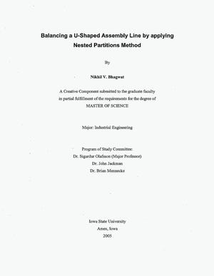 Primary view of object titled 'Balancing a U-Shaped Assembly Line by Applying Nested Partitions Method'.