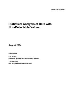 Primary view of object titled 'Statistical Analysis of Data with Non-Detectable Values'.