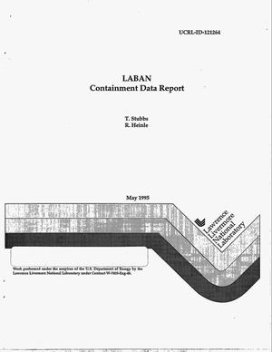 Primary view of object titled 'LABAN containment data report'.