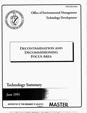 Primary view of object titled 'Decontamination and decommissioning focus area. Technology summary'.