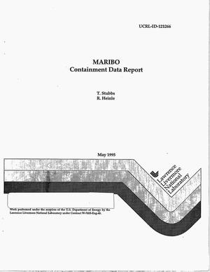 Primary view of object titled 'MARIBO containment data report'.