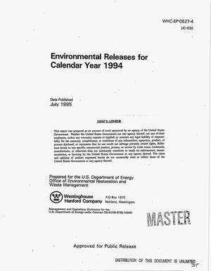 Primary view of object titled 'Environmental releases for calendar year 1994'.