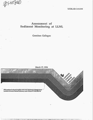 Primary view of object titled 'Assessment of sediment monitoring at LLNL'.