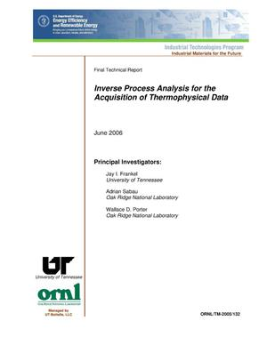 Primary view of object titled 'Inverse Process Analysis for the Acquisition of Thermophysical Data'.