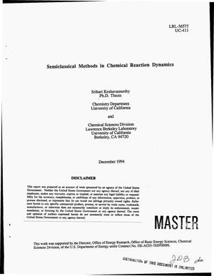 Primary view of Semiclassical methods in chemical reaction dynamics