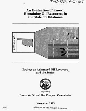 Primary view of object titled 'An evaluation of known remaining oil resources in the state of Oklahoma: Project on advanced oil recovery and the states. Volume 7'.