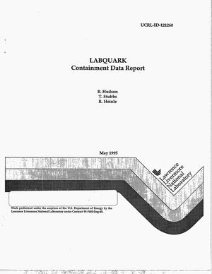 Primary view of object titled 'LABQUARK containment data report'.