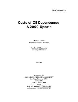 Primary view of object titled 'Costs of Oil Dependence: A 2000 Update'.