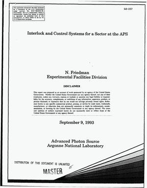 Primary view of object titled 'Interlock and control systems for a sector at the APS'.