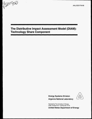 Primary view of object titled 'The Distributive Impact Assessment Model (DIAM): Technology share component'.