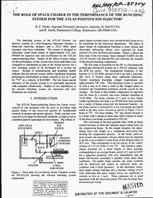 Primary view of object titled 'The role of space charge in the performance of the bunching system for the ATLAS Positive Ion Injector'.