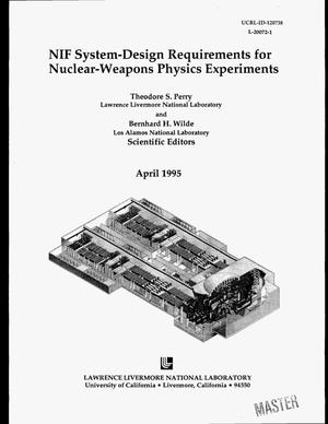 Primary view of object titled 'NIF system-design requirements for nuclear-weapons physics experiments'.