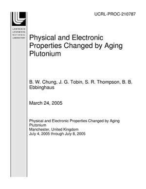 Primary view of object titled 'Physical and Electronic Properties Changed by Aging Plutonium'.
