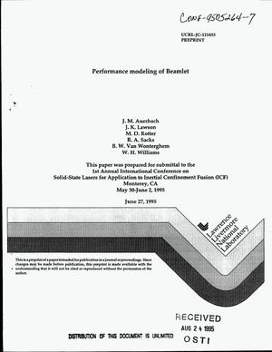 Primary view of object titled 'Performance modeling of Beamlet'.