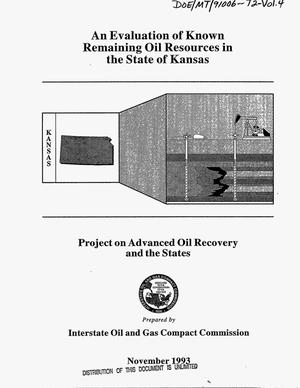 Primary view of object titled 'An evaluation of known remaining oil resources in the state of Kansas: Project on advanced oil recovery and the states. Volume 4'.