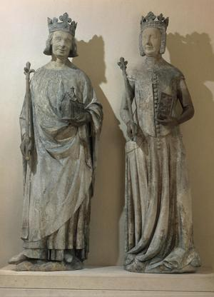 King Charles V of France & Queen Jeanne de Bourbon of France (his wife)