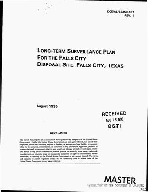 Primary view of object titled 'Long-term Surveillance Plan for the Falls City Disposal Site, Falls City, Texas. Revision 1'.