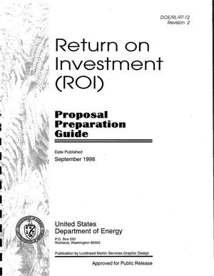 Primary view of object titled 'Return on investment (ROI) proposal preparation guide'.